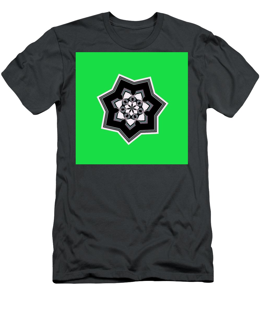 Green Men's T-Shirt (Athletic Fit) featuring the digital art 01-05-2014 by John Holfinger