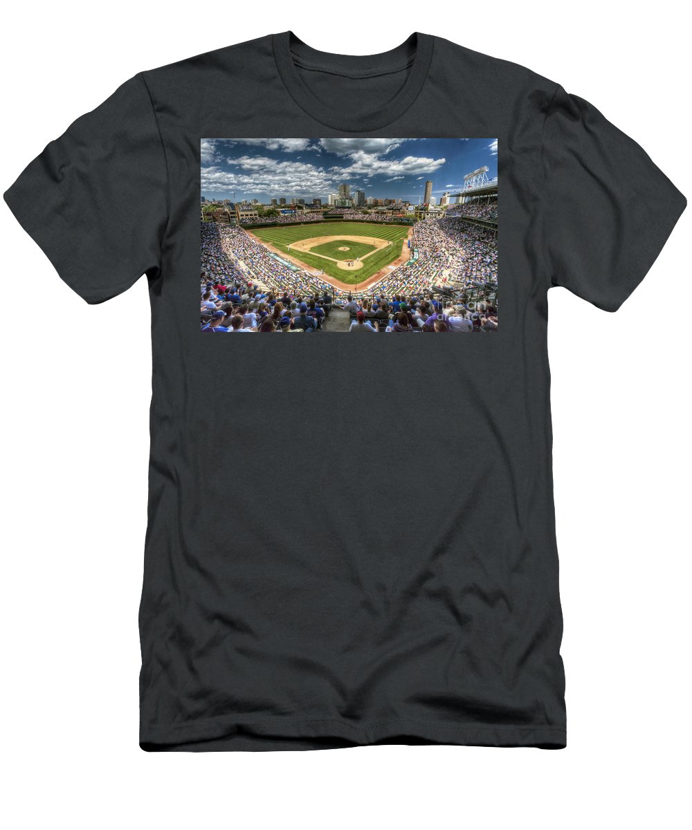 Wrigley Field Slim Fit T-Shirts