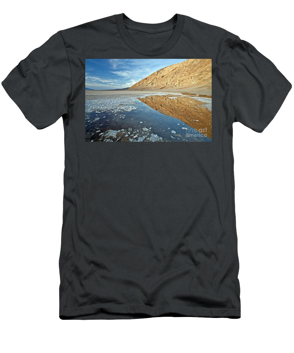 Bad Men's T-Shirt (Athletic Fit) featuring the photograph 0330 Badwater Basin by Steve Sturgill