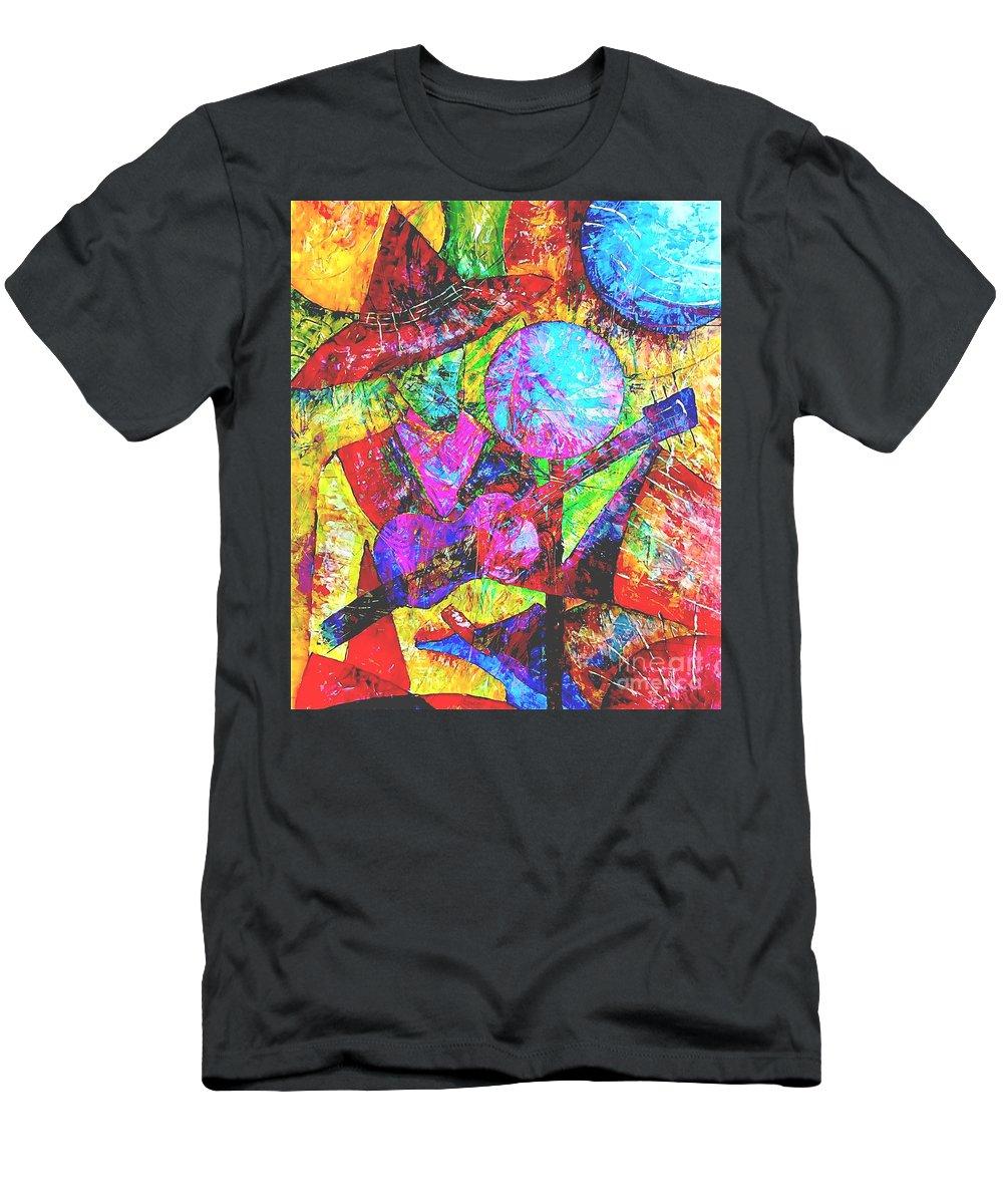 Graphics Men's T-Shirt (Athletic Fit) featuring the digital art 054-13 by Marek Lutek