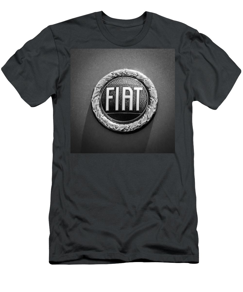 1972 Fiat Dino Spider Emblem Men's T-Shirt (Athletic Fit) featuring the photograph 1972 Fiat Dino Spider Emblem by Jill Reger