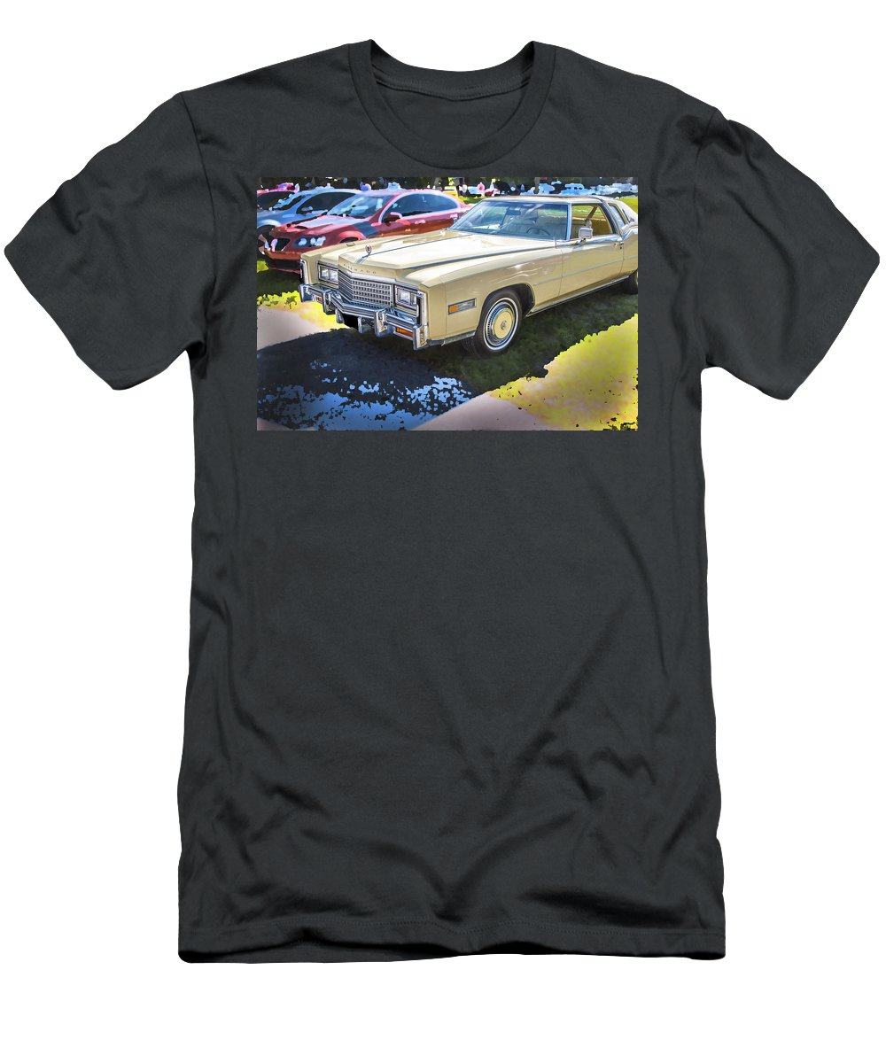 1978 Cadillac Men's T-Shirt (Athletic Fit) featuring the photograph 1978 Cadillac Eldorado by Rich Franco