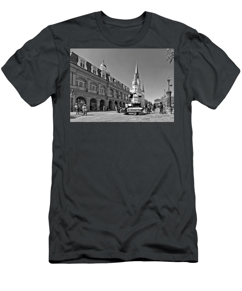 Rench Quarter Men's T-Shirt (Athletic Fit) featuring the photograph Ahh...new Orleans by Steve Harrington