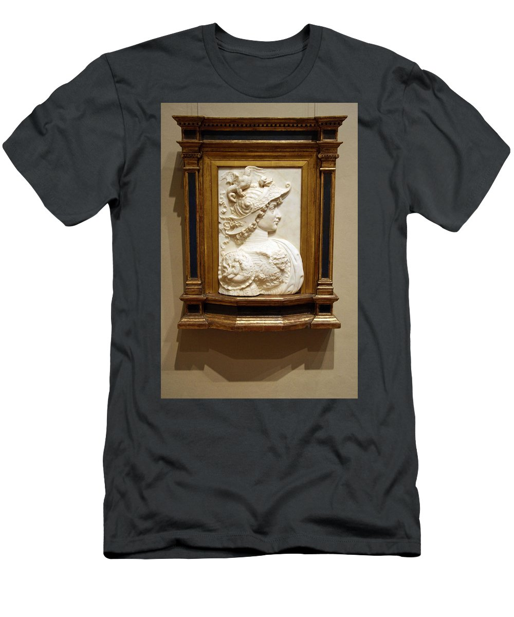 Alexander The Great Men's T-Shirt (Athletic Fit) featuring the photograph Alexander The Great By Andrea Del Verrocchio by Cora Wandel
