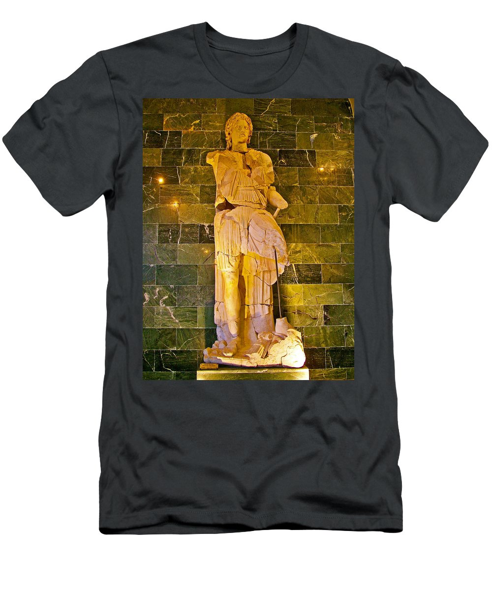 Alexander The Great In Antalya Archeological Museum Men's T-Shirt (Athletic Fit) featuring the photograph Alexander The Great In Antalya Archeological Museum-turkey by Ruth Hager