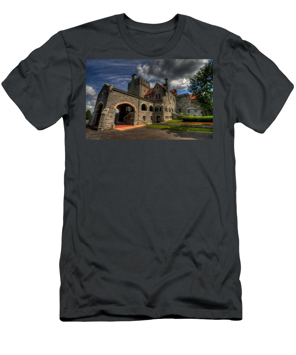 Castle Men's T-Shirt (Athletic Fit) featuring the photograph American Castle by David Dufresne
