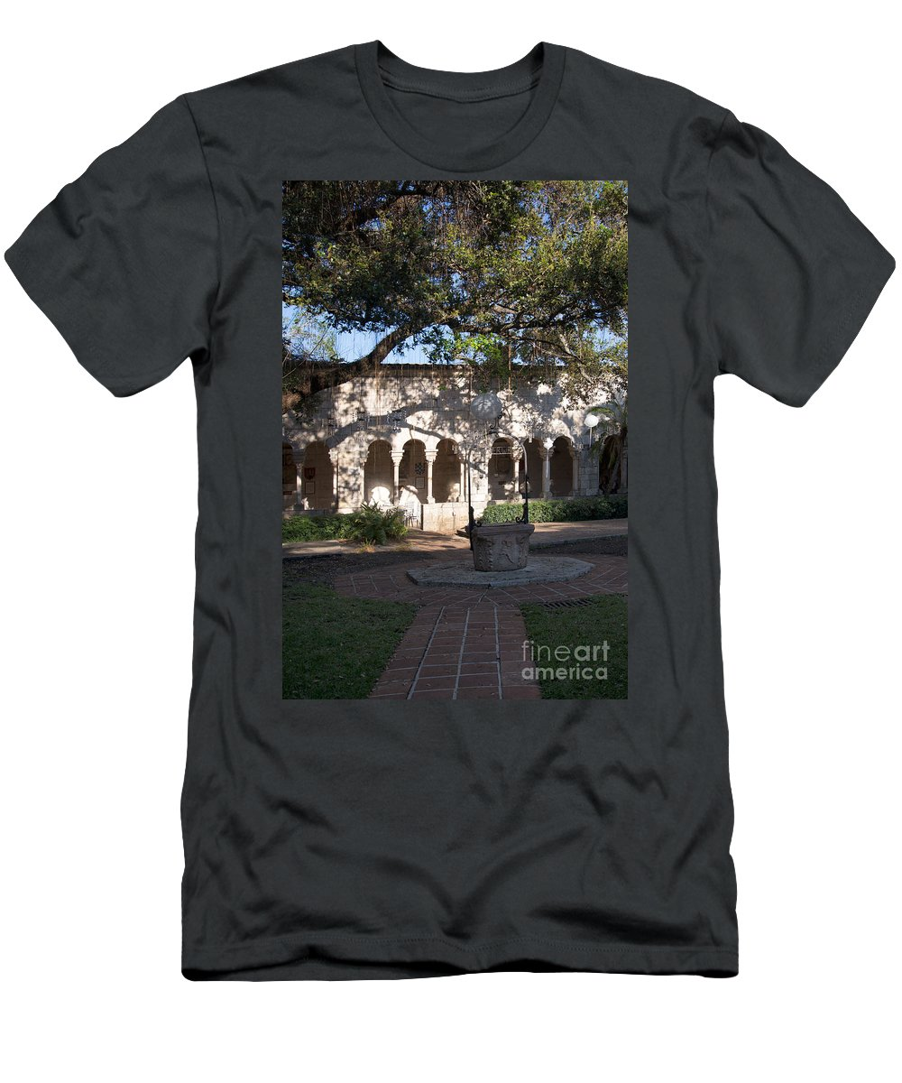 Ancient Spanish Monastery Men's T-Shirt (Athletic Fit) featuring the digital art Ancient Spanish Monastery by Carol Ailles