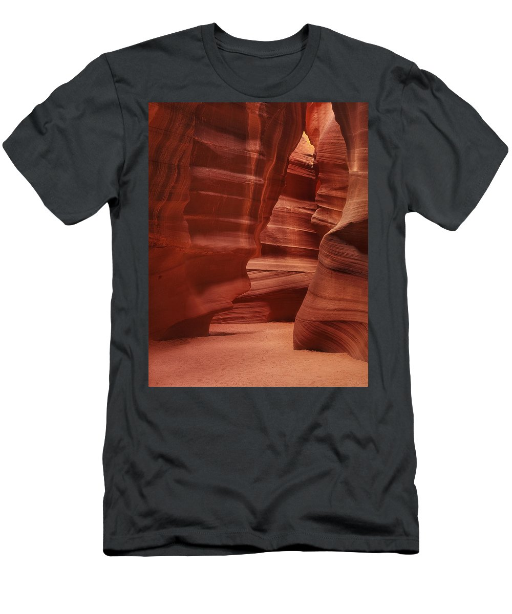 Sand Men's T-Shirt (Athletic Fit) featuring the photograph Antelope Slot Canyon by Andrew Soundarajan
