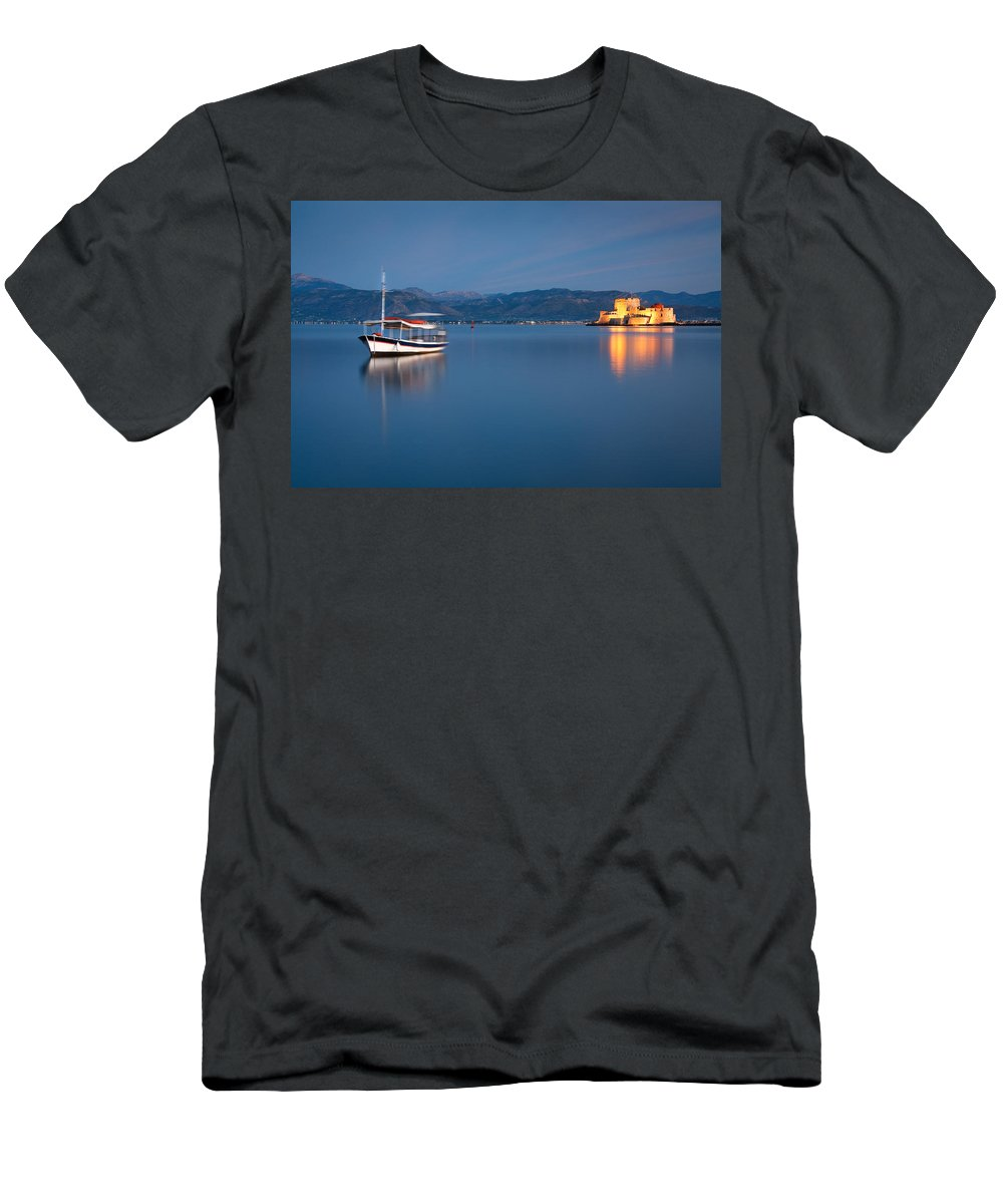 Greece Men's T-Shirt (Athletic Fit) featuring the photograph Argolikos Bay by Milan Gonda