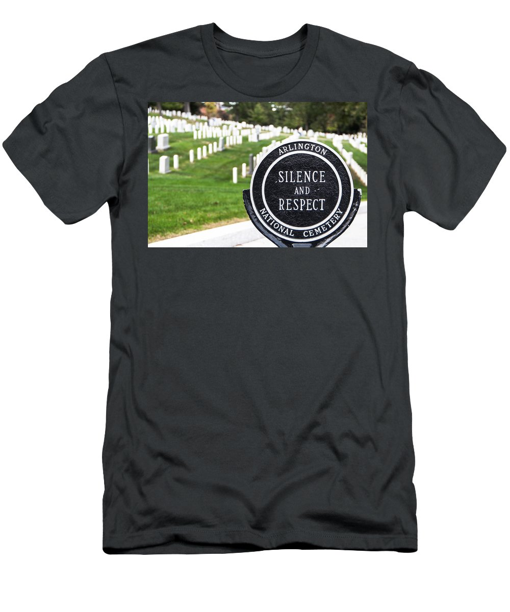 Cemetery Men's T-Shirt (Athletic Fit) featuring the photograph Arlington National Cemetery Part 1 by Alex Hiemstra
