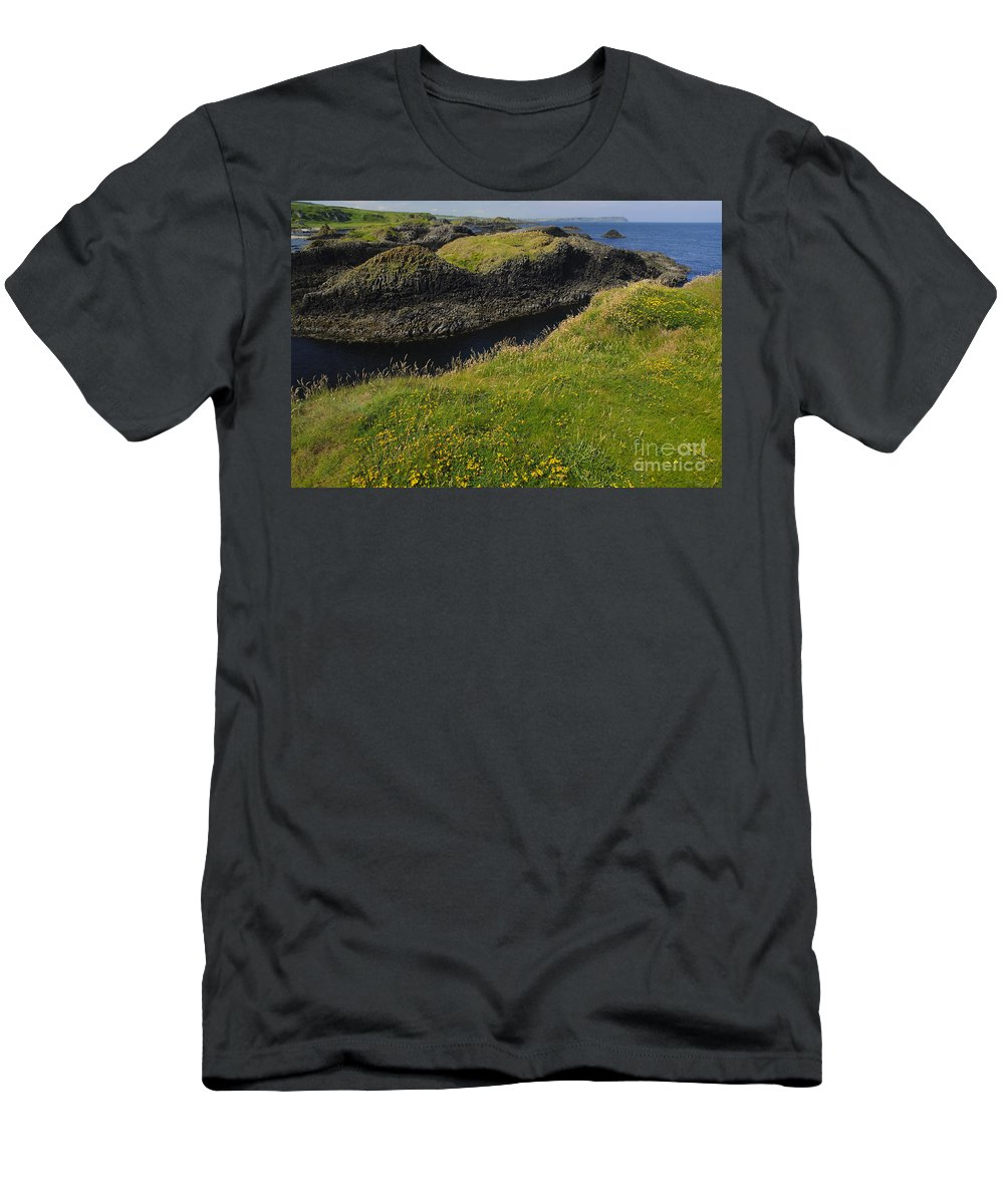 Ballintoy Men's T-Shirt (Athletic Fit) featuring the photograph Ballintoy Harbor by John Shaw