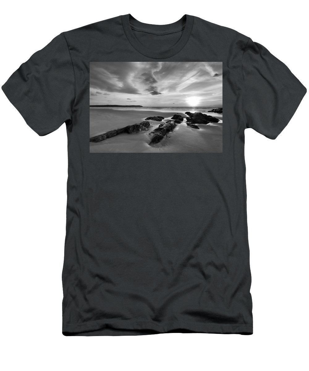 Beach Men's T-Shirt (Athletic Fit) featuring the photograph Beach 38 by Ingrid Smith-Johnsen