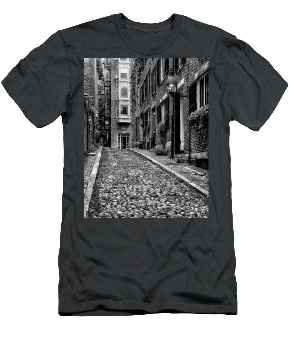 Beacon Hill Men's T-Shirt (Athletic Fit) featuring the photograph Beacon Hill Boston by Mountain Dreams