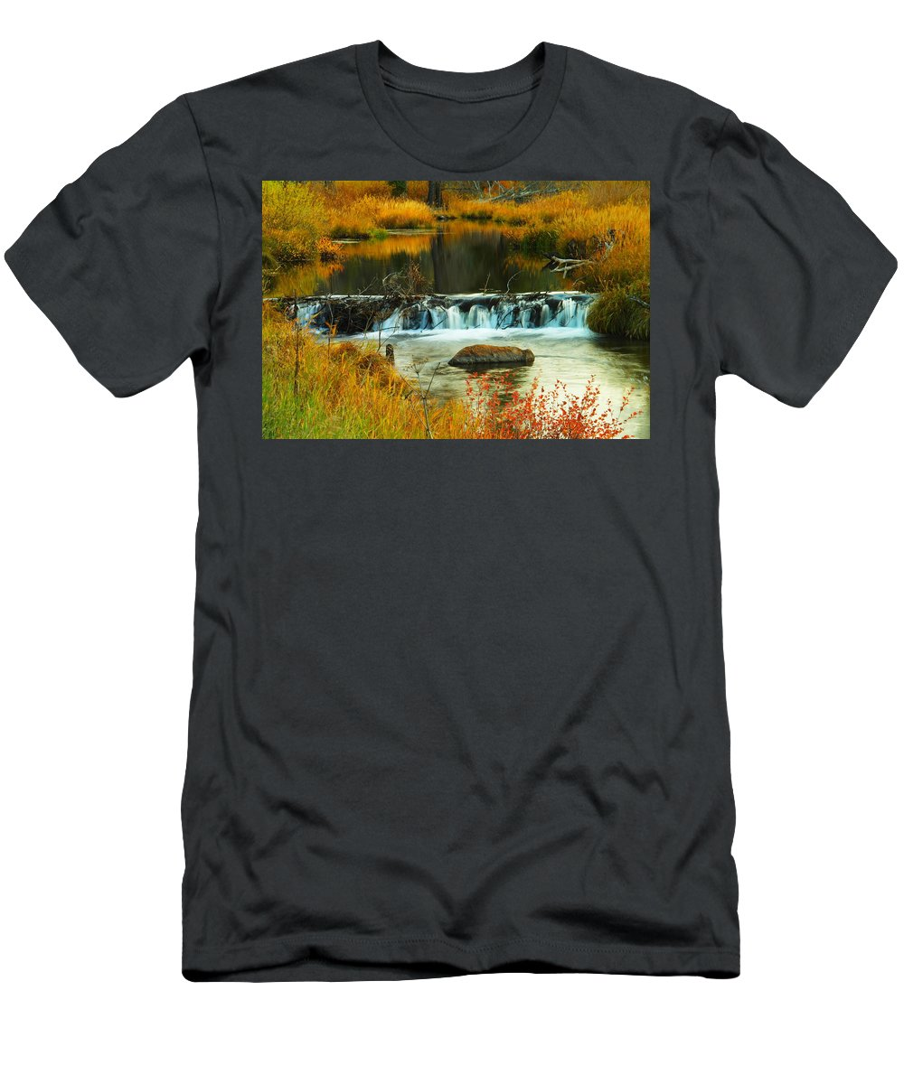 Rivers Men's T-Shirt (Athletic Fit) featuring the photograph Beautiful Water by Jeff Swan