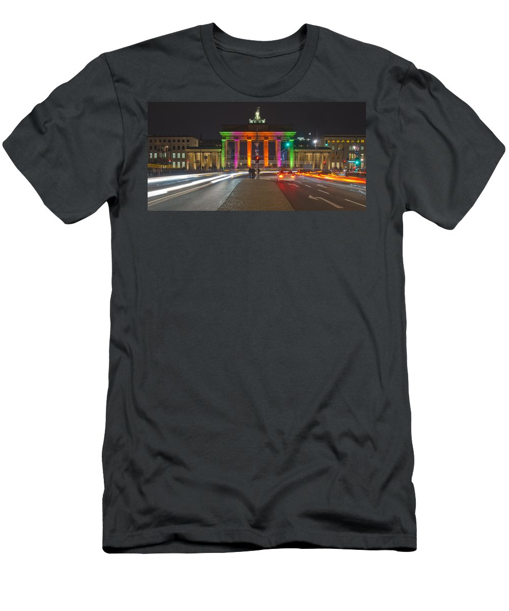 Berlin Men's T-Shirt (Athletic Fit) featuring the pyrography Berlin Lights by Steffen Gierok