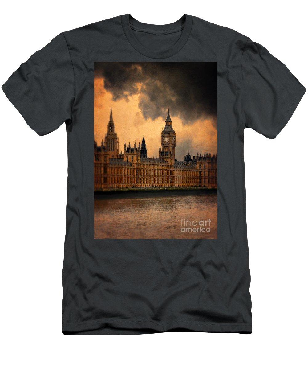Big Ben Men's T-Shirt (Athletic Fit) featuring the photograph Big Ben by Jill Battaglia