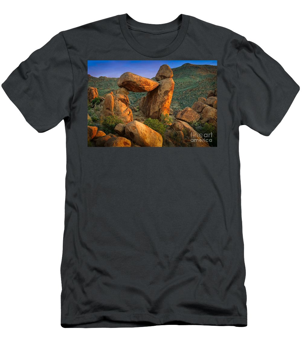 America Men's T-Shirt (Athletic Fit) featuring the photograph Big Bend Window Rock by Inge Johnsson