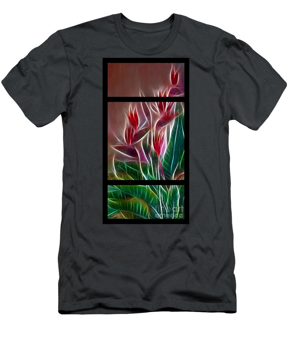 Bird Of Paradise Men's T-Shirt (Athletic Fit) featuring the digital art Bird Of Paradise Fractal by Peter Piatt