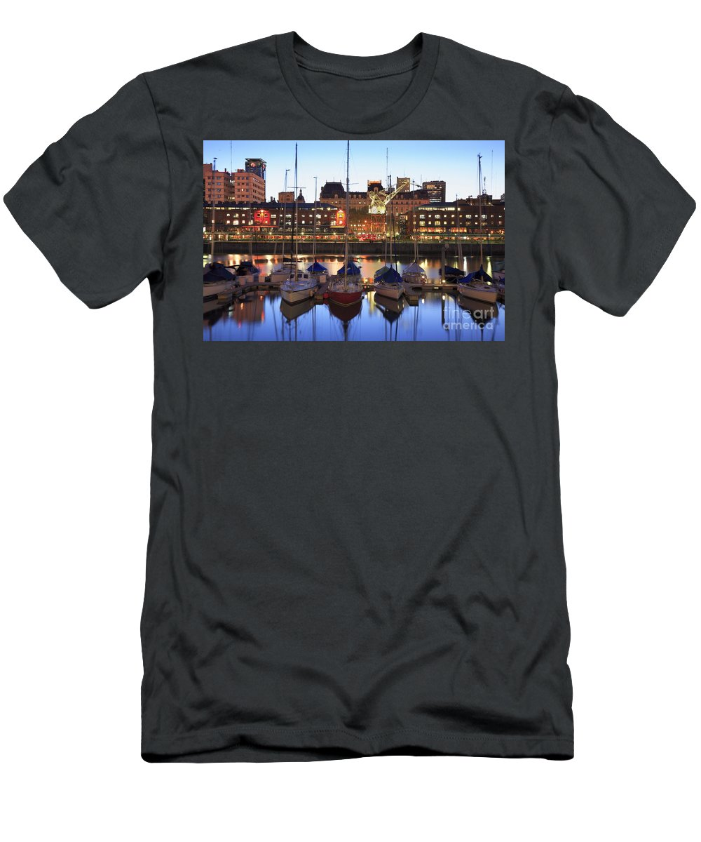 Buenos Aires Men's T-Shirt (Athletic Fit) featuring the photograph Boats by Bernardo Galmarini