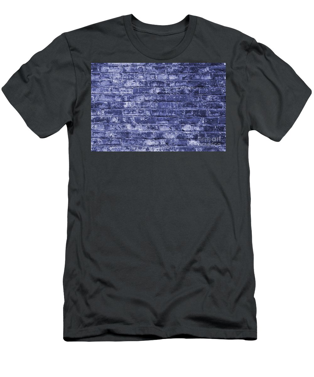 Red Men's T-Shirt (Athletic Fit) featuring the photograph Brick Wall by Henrik Lehnerer