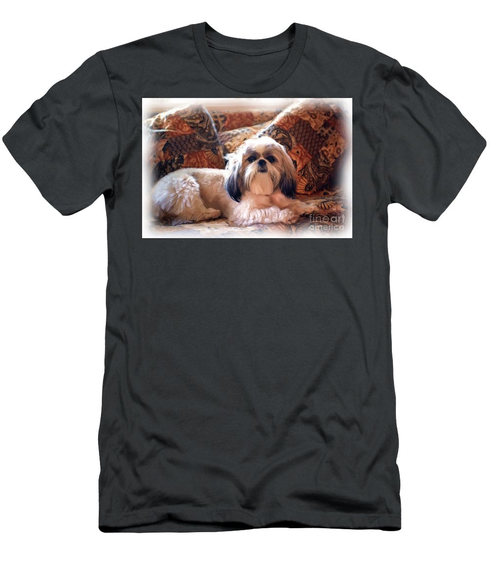 Digital Painting Men's T-Shirt (Athletic Fit) featuring the photograph Buddy by Allen Beatty
