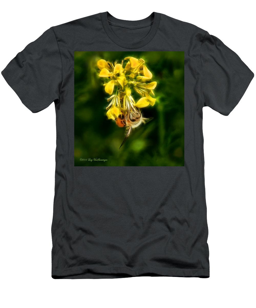Bee T-Shirt featuring the photograph Busy Bee by Lucy VanSwearingen