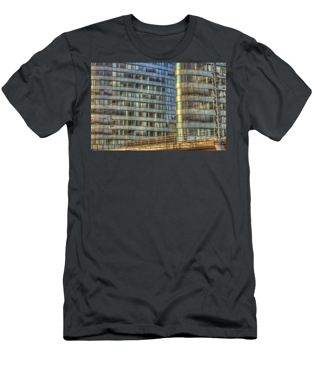 Architecture Men's T-Shirt (Athletic Fit) featuring the digital art Bvg Building by Nathan Wright