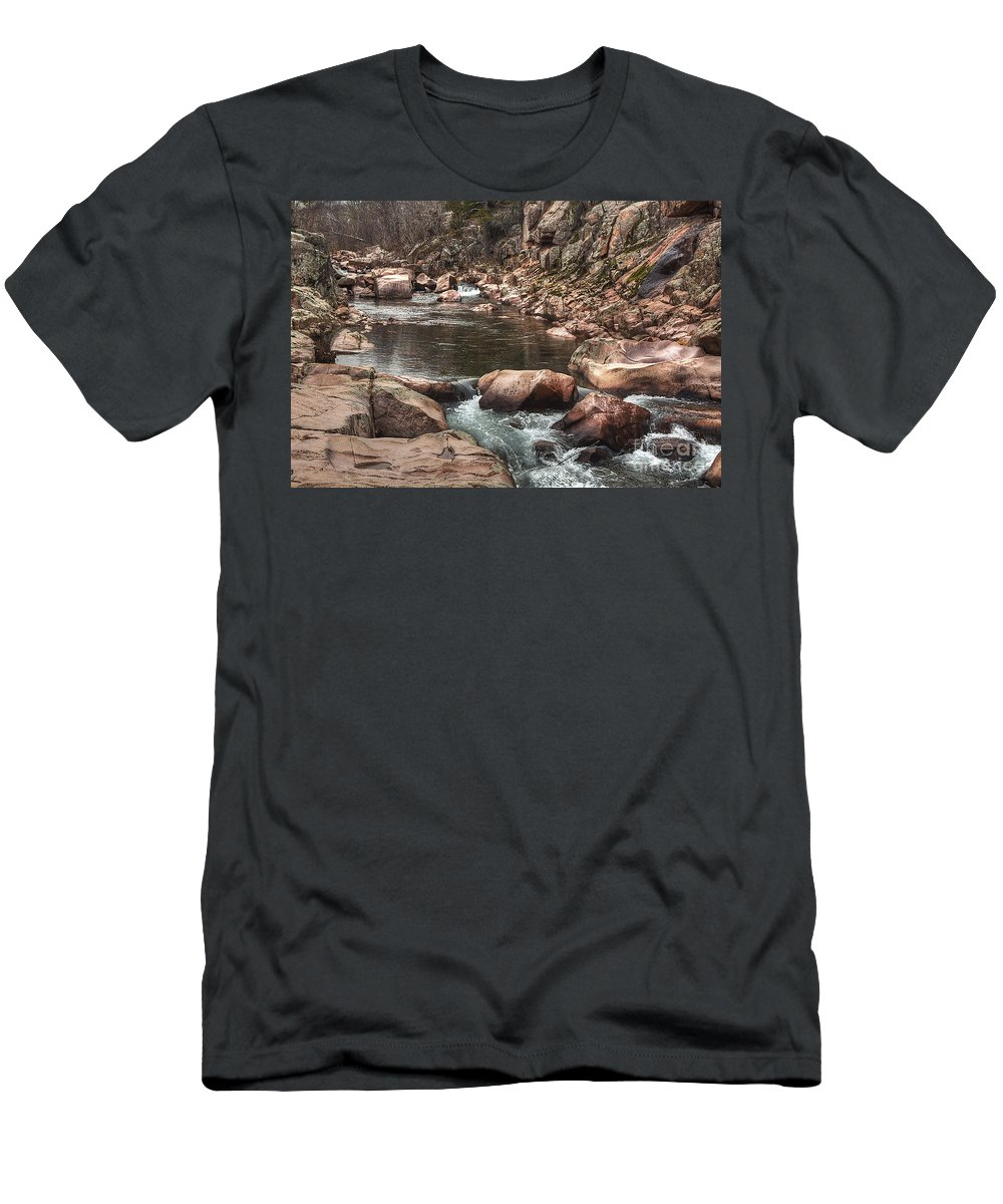 2011 Men's T-Shirt (Athletic Fit) featuring the photograph Castor River by Larry Braun