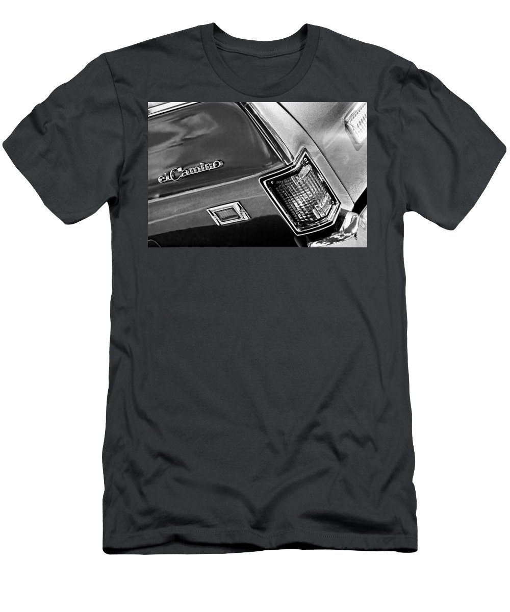 Chevrolet El Camino Taillight Emblem Men's T-Shirt (Athletic Fit) featuring the photograph Chevrolet El Camino Taillight Emblem by Jill Reger