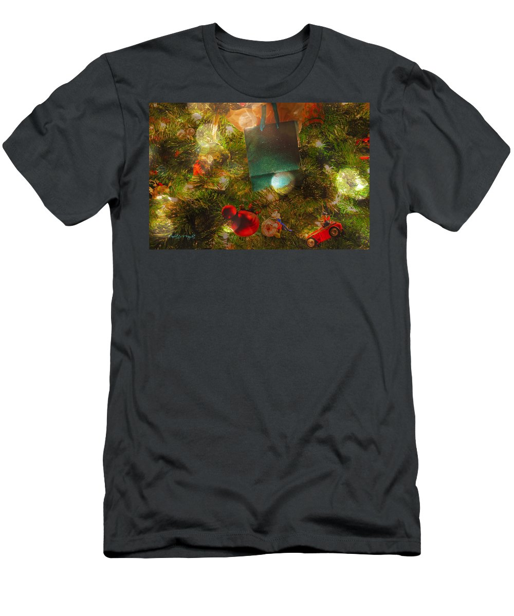 Featured Men's T-Shirt (Athletic Fit) featuring the photograph Christmas Dreams by Paulette B Wright