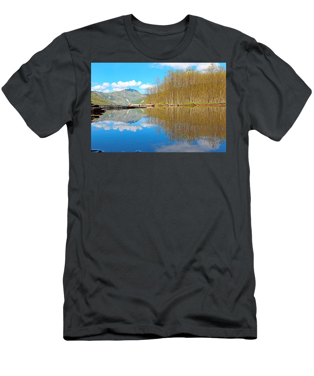 America Men's T-Shirt (Athletic Fit) featuring the photograph Coldwater Lake by Paul Fell