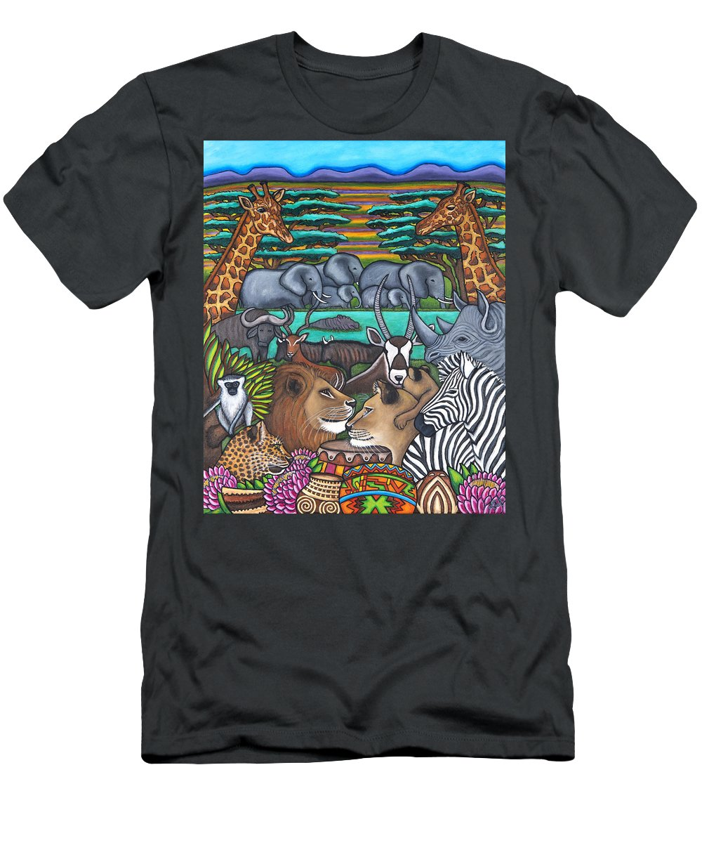 Africa T-Shirt featuring the painting Colours of Africa by Lisa Lorenz
