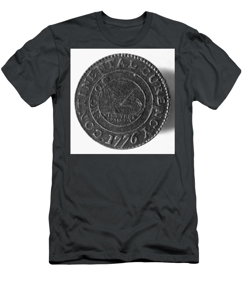 1776 Men's T-Shirt (Athletic Fit) featuring the photograph Continental Dollar, 1776 by Granger