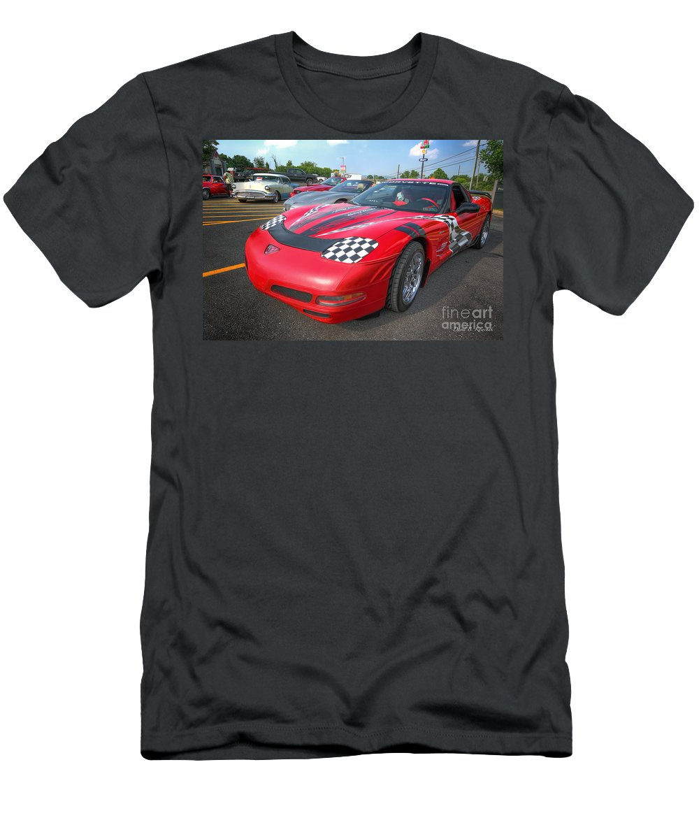 Corvette Men's T-Shirt (Athletic Fit) featuring the photograph Corvette Z06 by David B Kawchak Custom Classic Photography
