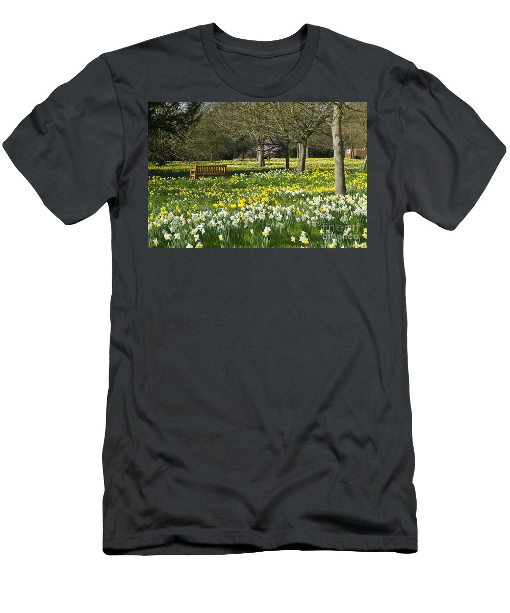 England Men's T-Shirt (Athletic Fit) featuring the photograph Daffodils by Lana Enderle