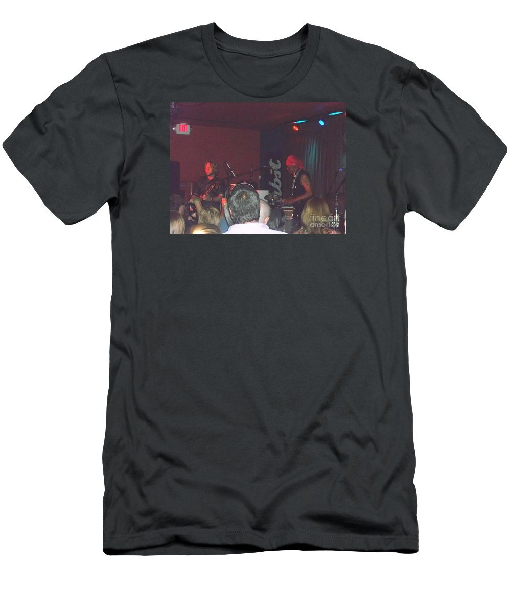 Men's T-Shirt (Athletic Fit) featuring the photograph Devon Allman And Cyril Neville by Kelly Awad