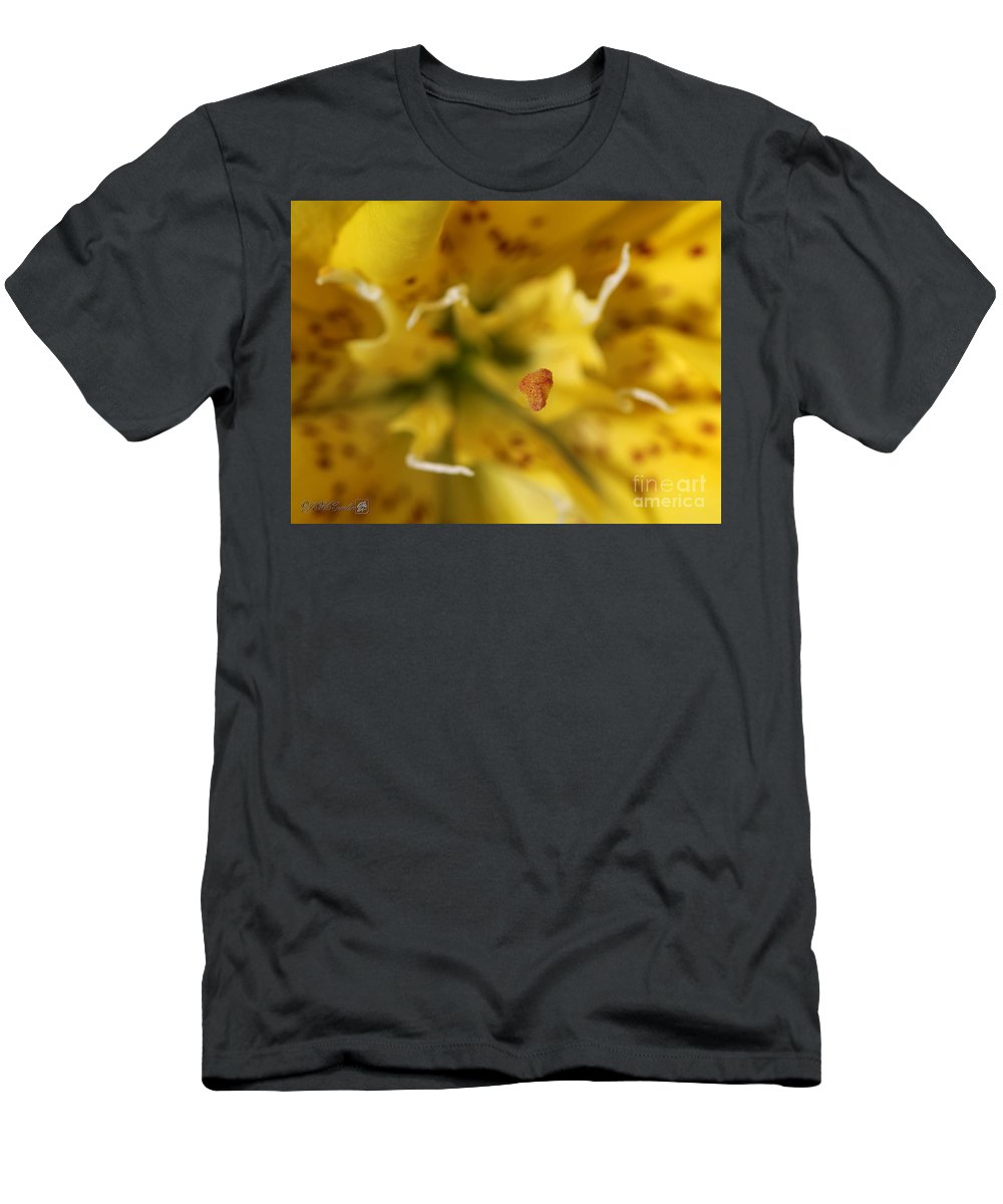 Mccombie Men's T-Shirt (Athletic Fit) featuring the photograph Double Asiatic Lily Named Fata Morgana by J McCombie