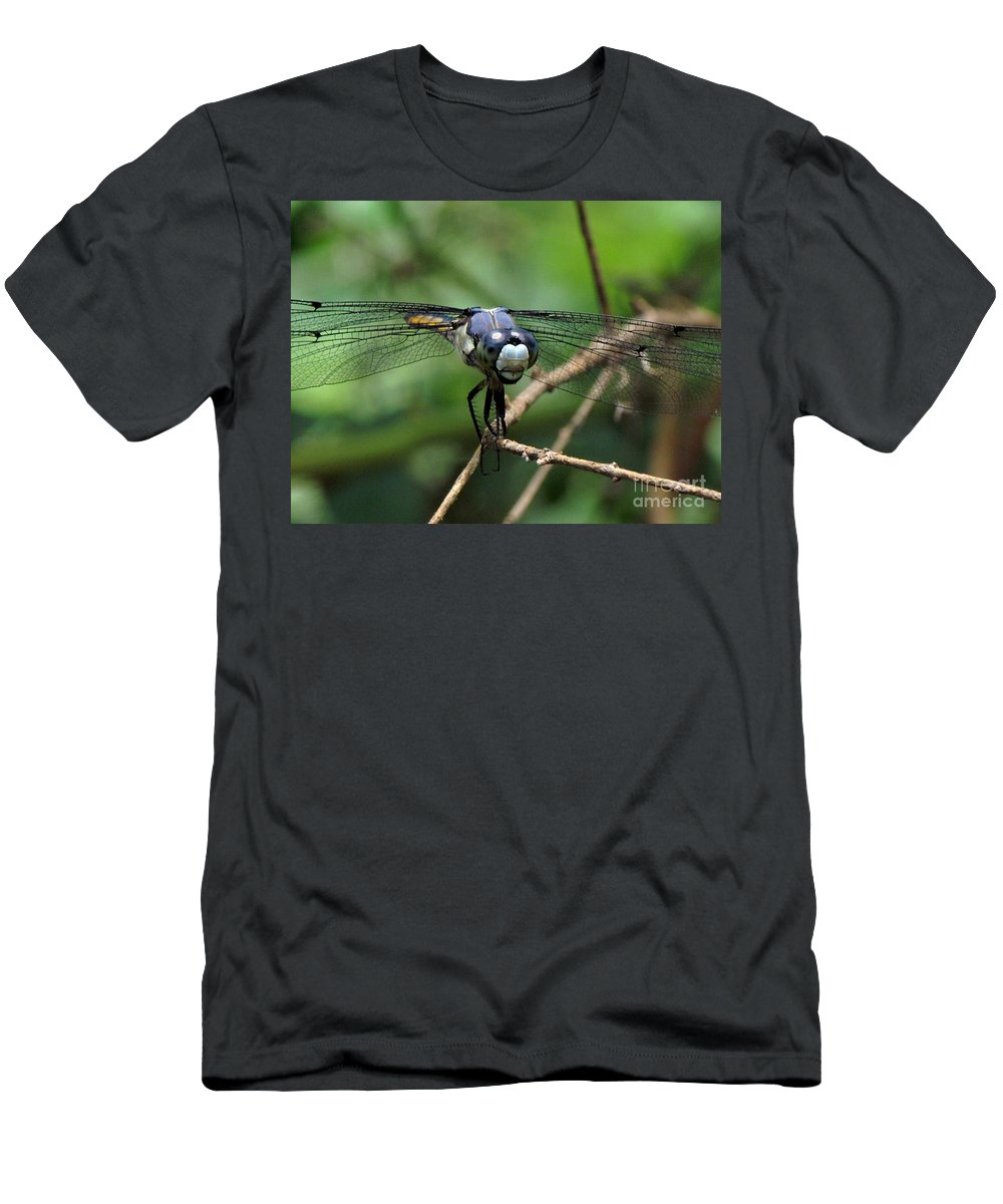 Dragonfly Men's T-Shirt (Athletic Fit) featuring the photograph Dragonfly 71 by J M Farris Photography