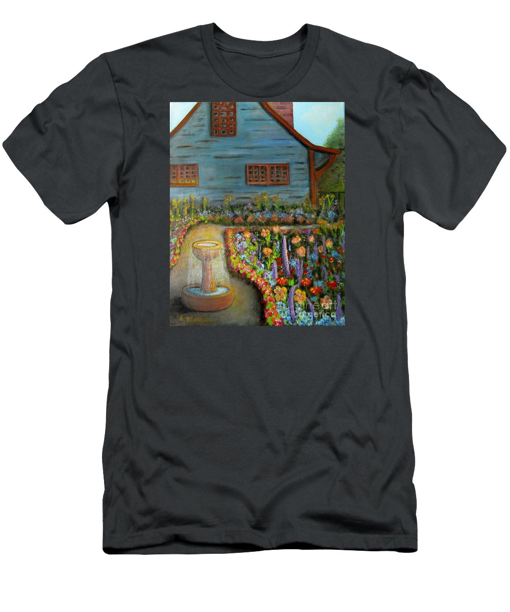 Garden T-Shirt featuring the painting Dream Garden by Laurie Morgan