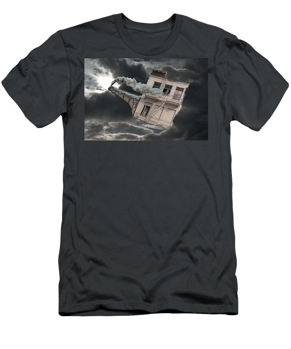 Escape Men's T-Shirt (Athletic Fit) featuring the digital art Escape by Lisa Yount