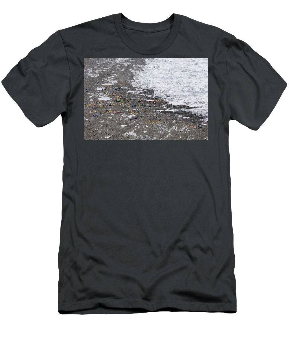 Adventure Men's T-Shirt (Athletic Fit) featuring the photograph Everest - Khumbu Icefall, Nepal by Peter McBride
