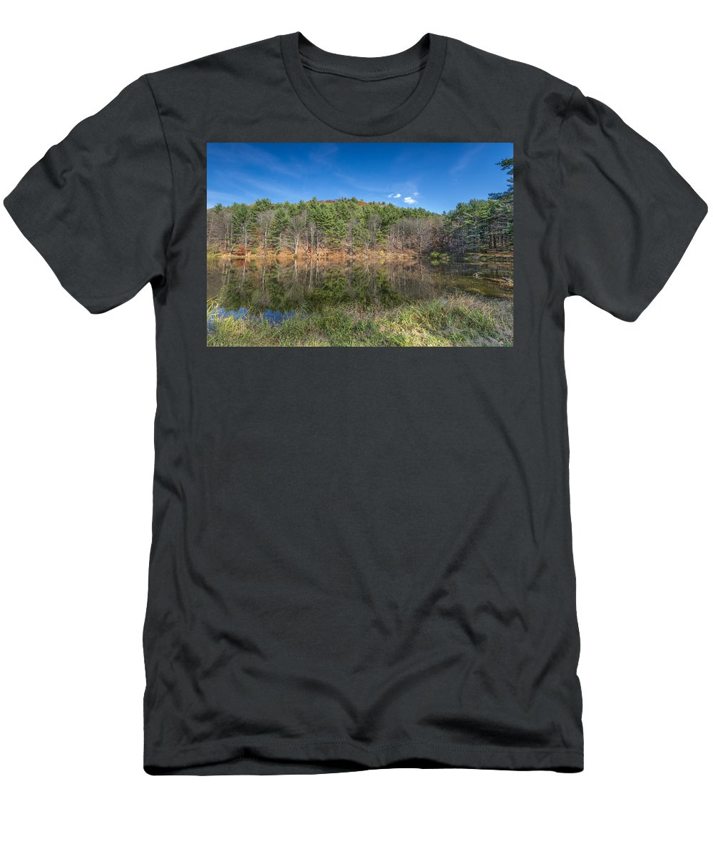 Fall Men's T-Shirt (Athletic Fit) featuring the photograph Fall Reflections by Ray Summers Photography