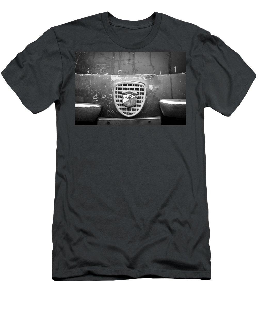 Fiat Grille Emblem Men's T-Shirt (Athletic Fit) featuring the photograph Fiat Grille Emblem by Jill Reger