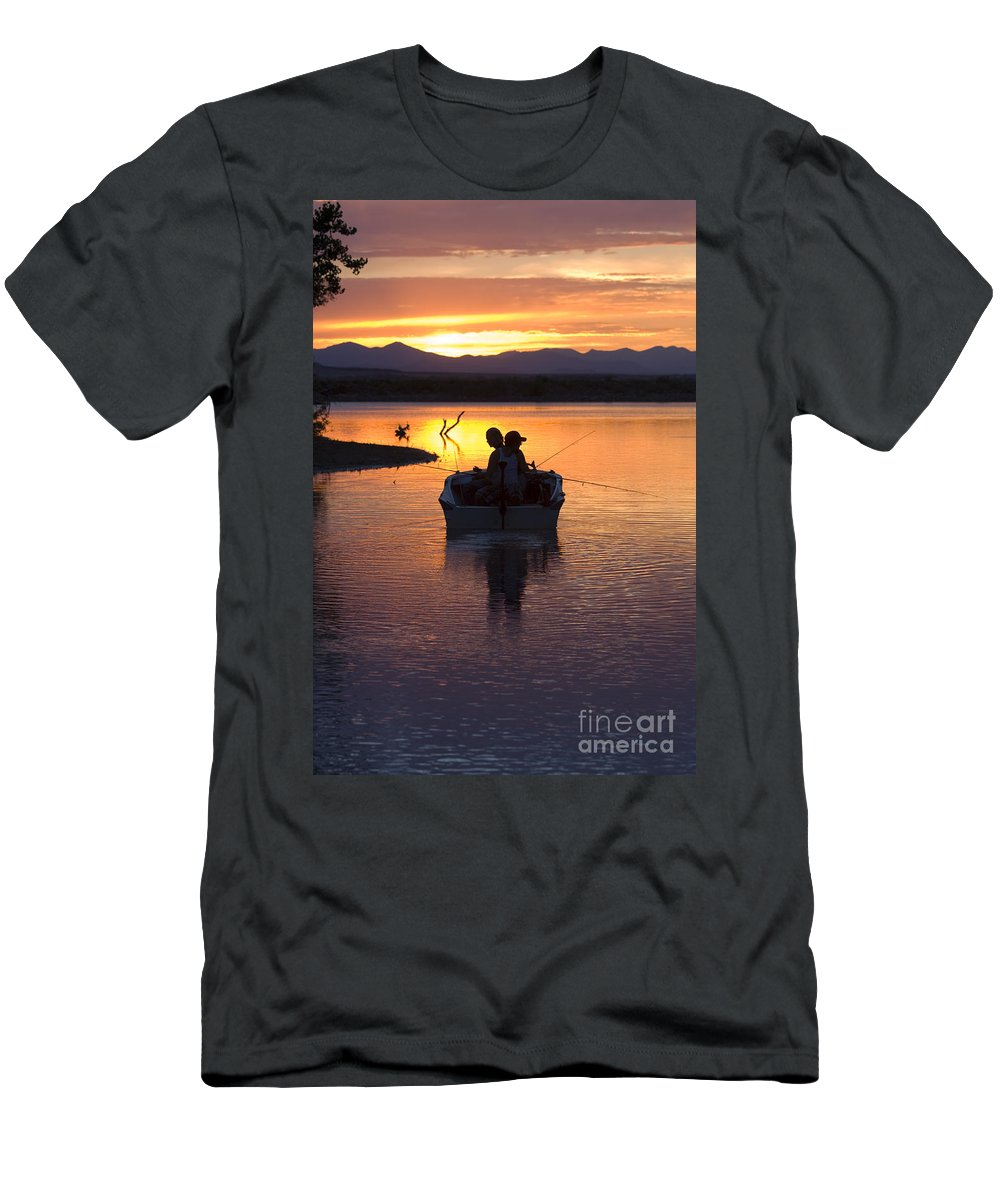 Colorado Men's T-Shirt (Athletic Fit) featuring the photograph Fishing Boats by Steve Krull