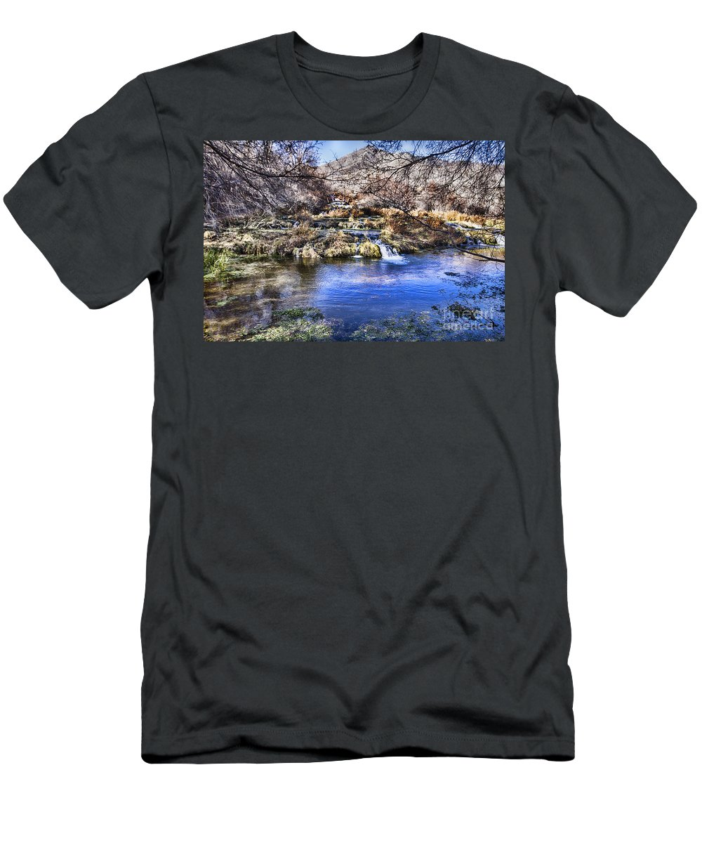 Ice Men's T-Shirt (Athletic Fit) featuring the photograph Flow V5 by Douglas Barnard