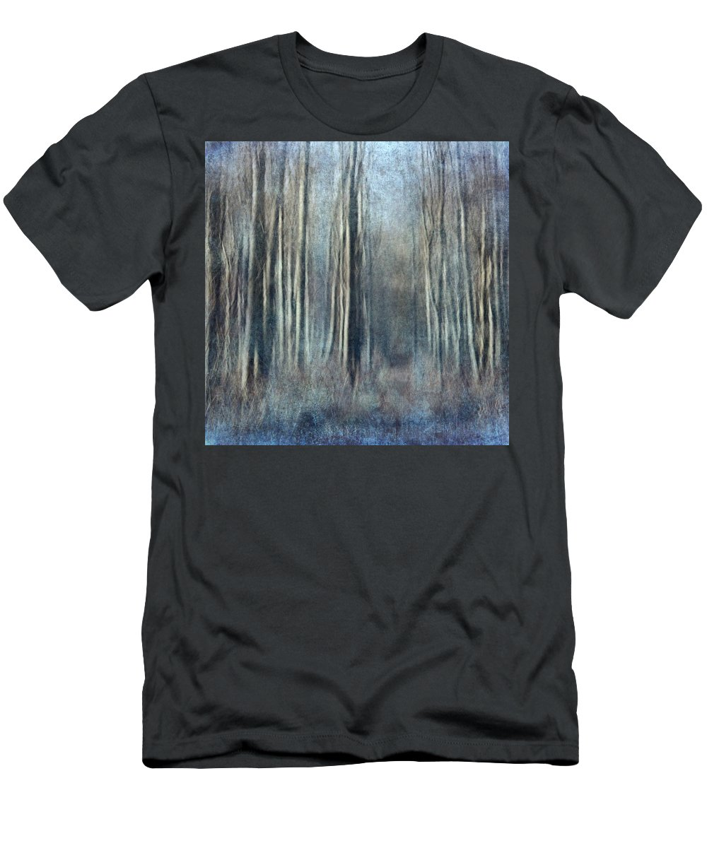 Abstract Men's T-Shirt (Athletic Fit) featuring the photograph Forest by Heike Hultsch