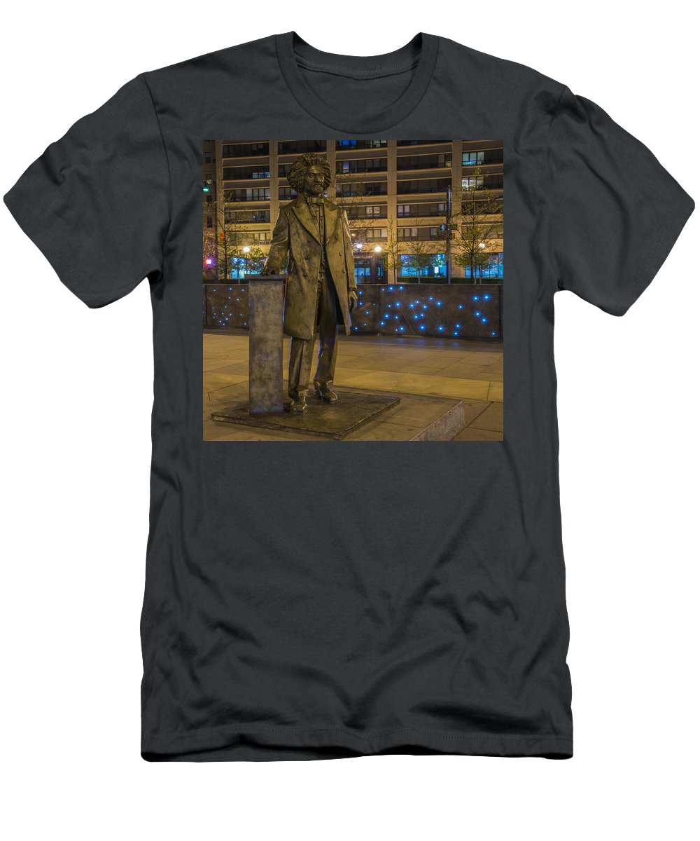 American History Men's T-Shirt (Athletic Fit) featuring the photograph Frederick Douglass by Theodore Jones