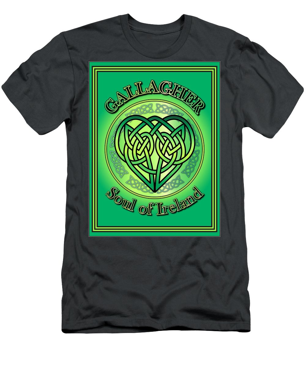 Gallagher Men's T-Shirt (Athletic Fit) featuring the digital art Gallagher Soul Of Ireland by Ireland Calling