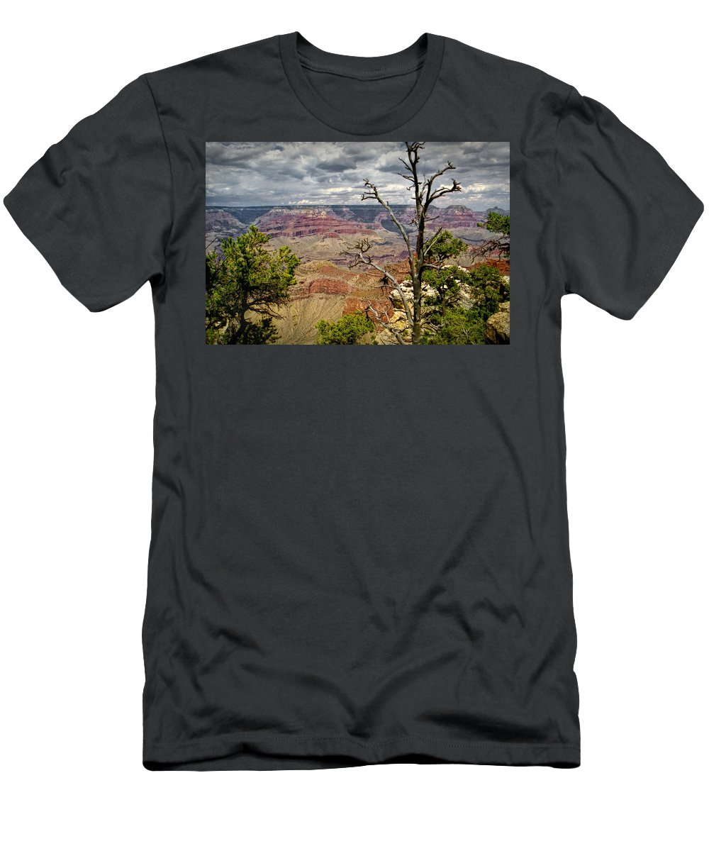 Art Men's T-Shirt (Athletic Fit) featuring the photograph Grand Canyon View From The South Rim by Randall Nyhof