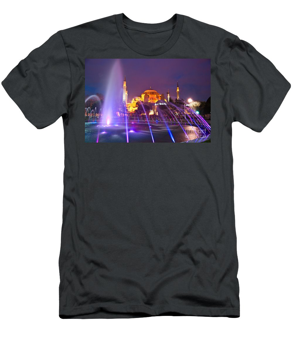 Architecture Men's T-Shirt (Athletic Fit) featuring the photograph Hagia Sophia - Istanbul by Luciano Mortula